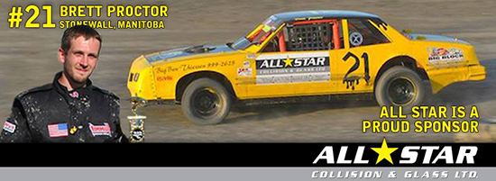 Proud Sponsor of Stock Racer Brett Proctor